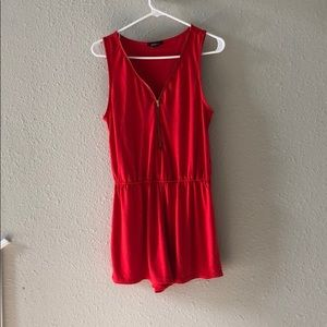 Ambience Red Romper Size Medium